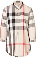 Burberry Brit Cotton Checked Popover - Lyst