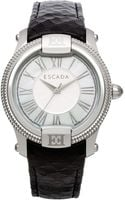 Escada Womens Swiss Madelene Black Leather Strap Watch 38mm Iww - Lyst
