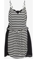 Mason by Michelle Mason Contrast Stripe Cami Dress - Lyst