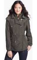 Michael by Michael Kors Double Breasted Hooded Anorak - Lyst