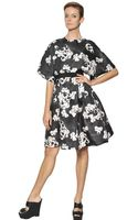 Giambattista Valli Floral Printed Silk Gazar Dress - Lyst