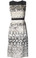 Giambattista Valli Reptile Print Dress - Lyst