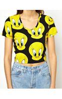 Lazy Oaf X Looney Tunes Tweety Pie Crop Tshirt - Lyst
