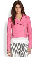 J Brand Aiah Leather Biker Jacket - Lyst