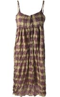 Pleats Please By Issey Miyake Vintage Checked Dress - Lyst
