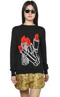 Stella McCartney Wool Blend Lipstick Sweater - Lyst