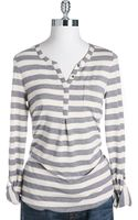 Lucky Brand Heathered Stripe Henley - Lyst