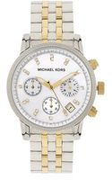 Michael Kors Ritz Chronograph Bicolour Watch - Lyst