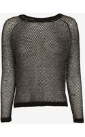 Mason by Michelle Mason Open Back Lurex Sweater - Lyst