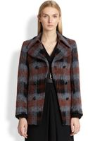 McQ by Alexander McQueen Textured Plaid Doublebreasted Coat - Lyst