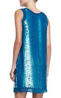 Shoshanna Leandra Sleeveless Sequin Mini Dress - Lyst