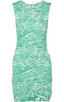 LNA Printed Stretchjersey Dress - Lyst