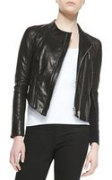 Helmut Lang Blistered Cropped Leather Jacket - Lyst