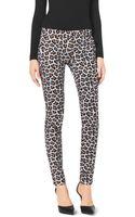 Michael Kors Leopard-print Skinny Jeans - Lyst