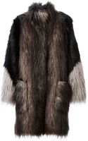 Lanvin Oversized Faux Fur Coat - Lyst