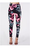 Missguided Zoey Floral Scuba Treggings - Lyst