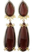 Alexis Bittar Gold-plated Crystal Studded Earrings - Lyst