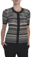 Missoni Button Front Cardigan - Lyst