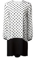 Victoria, Victoria Beckham Textured Polka Dot Dress - Lyst