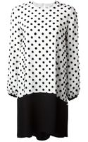 Victoria, Victoria Beckham Textured Polka Dot Dress - Lyst