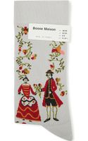 Bonne Maison Floral Character Ankle Socks - Lyst