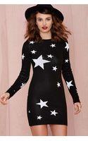 Nasty Gal Seeing Stars Knit Dress - Lyst