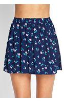 Forever 21 Blooming Floral Skater Skirt - Lyst