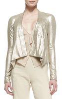 Donna Karan New York Long-sleeve Cozy Leather Jacket - Lyst