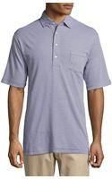 Peter Millar Striped Knit Polo Shirt - Lyst
