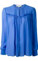 Vanessa Bruno Athé Pleated Front Blouse - Lyst