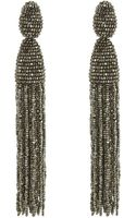 Oscar de la Renta Long Tassel Earrings - Lyst