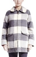 Woolrich Buffalo Wool Coat - Lyst