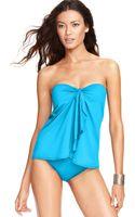 Lauren by Ralph Lauren Flyaway Tummycontrol Onepiece Swimsuit - Lyst