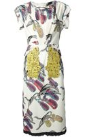 Sonia Rykiel Abstract Print Dress - Lyst