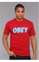 Obey Font Basic Tee - Lyst
