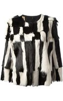 Isabel Marant Monochrome Boxy Fur Top - Lyst