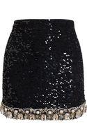 Ashish Embellished Mini Skirt - Lyst