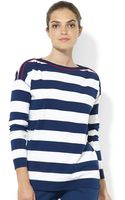 Lauren by Ralph Lauren Petite Longsleeve Nautical Striped Shirt - Lyst