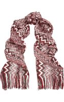 Missoni Metallic Crochetknit Scarf - Lyst