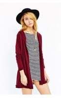 BDG Hooded French Terry Cardigan - Lyst