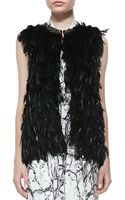 Haute Hippie Coque Beaded Feather Vest  Love Me Printed Halter Maxi Dress - Lyst