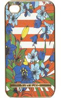 River Island Red Floral Stripe Print Iphone 5 Case - Lyst