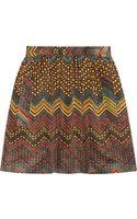 M Missoni Printed Corduroy Skirt - Lyst