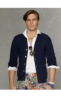 Polo Ralph Lauren Cabled Cashmere Cardigan - Lyst