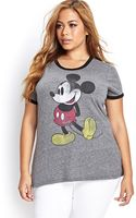 Forever 21 Heathered Mickey Mouse Tee - Lyst