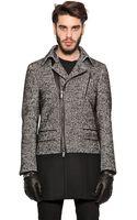 Richmond Cotton Wool Blend Tweed Coat - Lyst