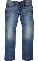 River Island Mid Wash Clint Bootcut Jeans - Lyst