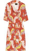 Vivienne Westwood Anglomania Wuupa Printed Crepe Dress - Lyst
