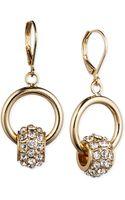 Nine West Crystal Roundel Drop Earrings - Lyst
