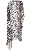Roberto Cavalli Silk Animal Print Dress - Lyst